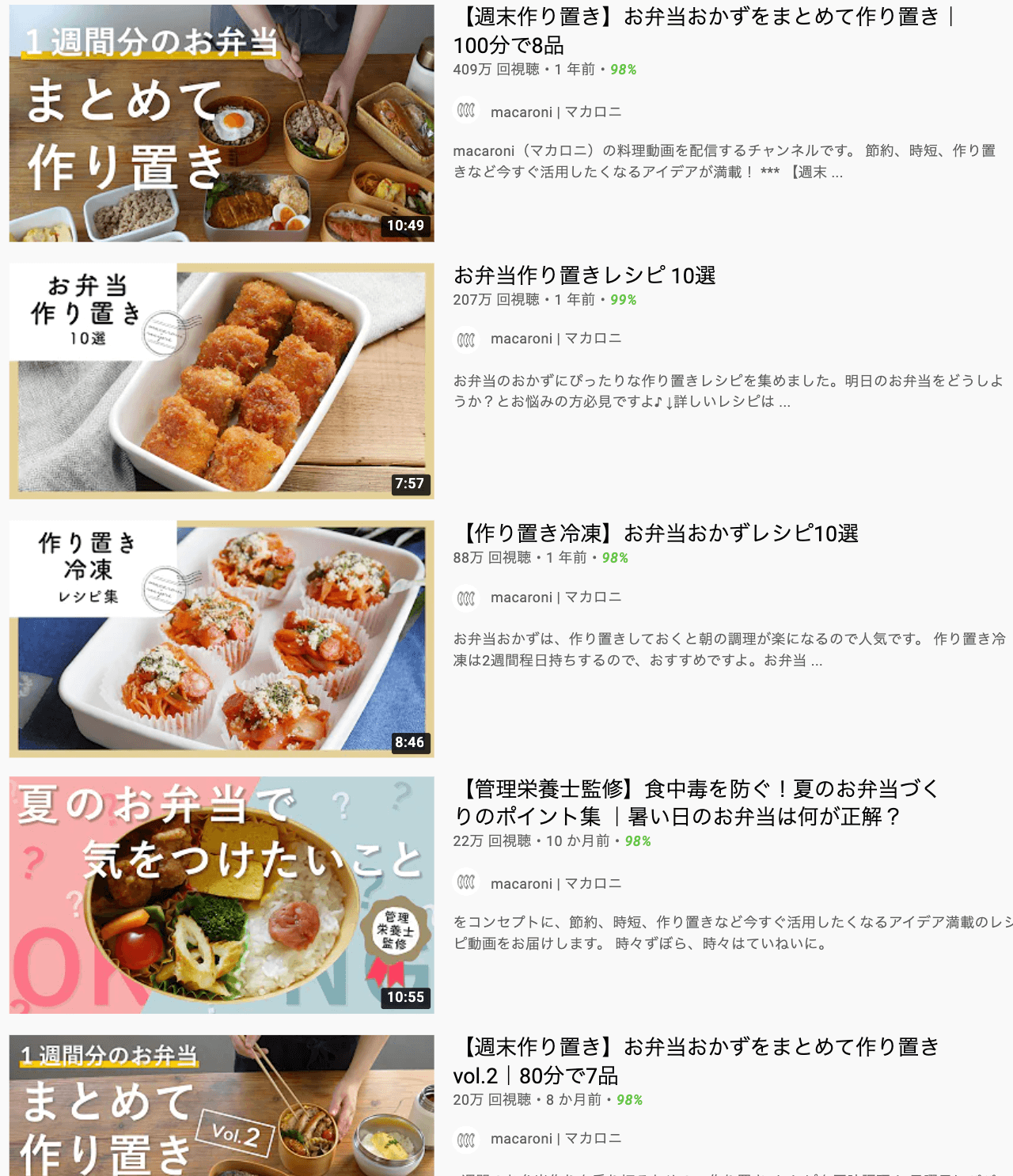 youtube-Pre-made lunch-top display
