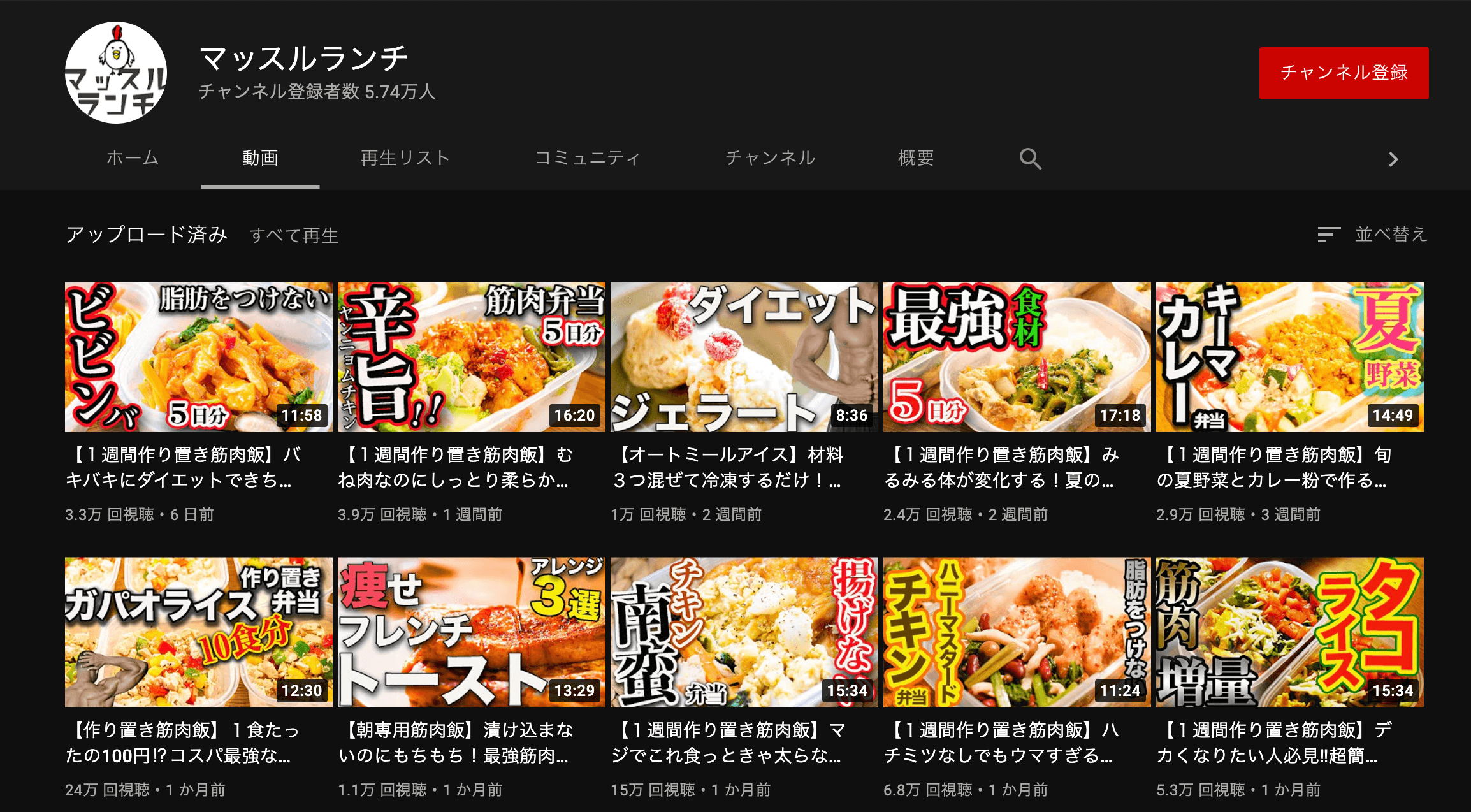 youtube-good channnel name-muscle lunch